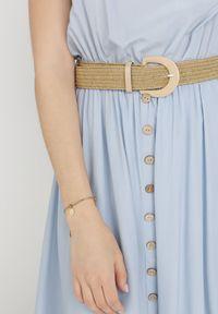 Born2be - Jasnoniebieska Sukienka Cherinoe. Kolor: niebieski