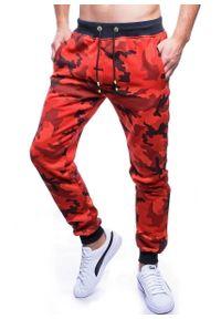Czerwone spodnie dresowe Recea moro