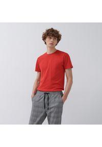 House - T-shirt z bawełny organicznej - Czerwony. Kolor: czerwony. Materiał: bawełna