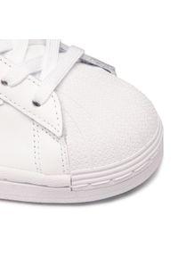Białe buty sportowe Adidas z cholewką, na co dzień, Adidas Superstar