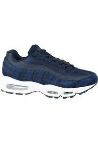 Niebieskie sneakersy Big-Star z cholewką, w kolorowe wzory