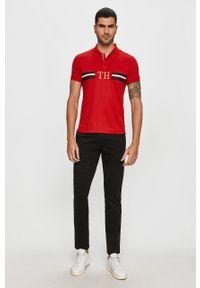 Czerwona koszulka polo TOMMY HILFIGER z aplikacjami, polo, krótka #5