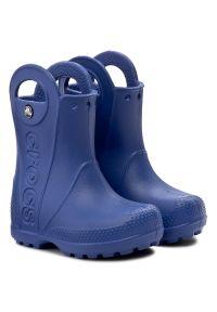 Crocs - Kalosze CROCS - Handle It Rain Boot Kids 12803 Cerulean Blue. Kolor: niebieski. Szerokość cholewki: normalna