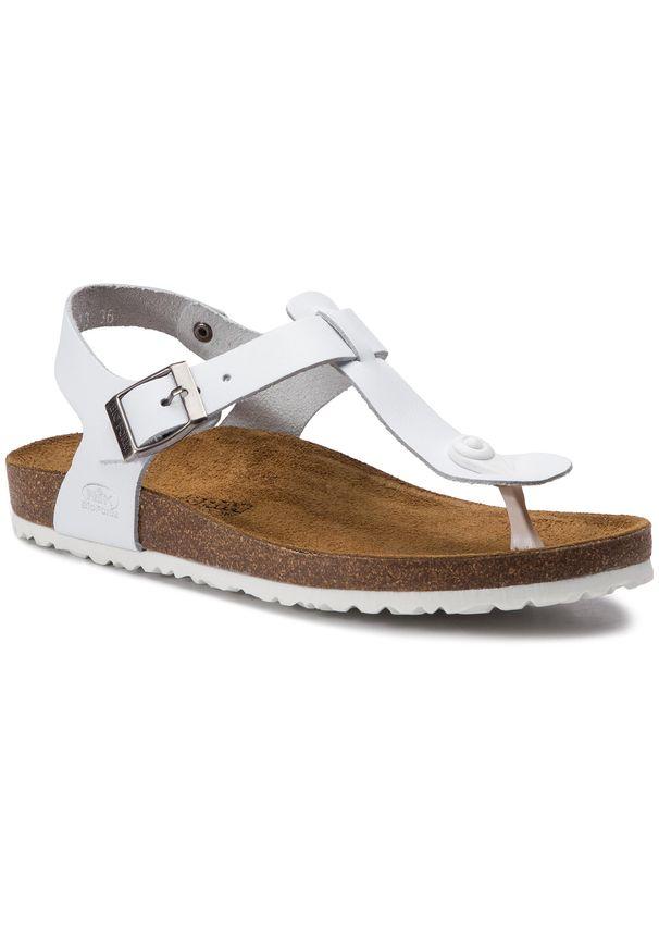 Białe sandały Nik na co dzień, casualowe