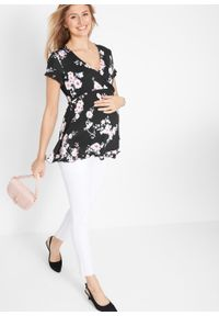 Czarna tunika bonprix moda ciążowa, klasyczna