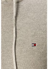 Szary sweter TOMMY HILFIGER z okrągłym kołnierzem, długi