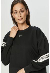 Czarna bluza Nike bez kaptura, z nadrukiem