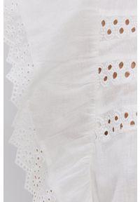 Vero Moda - Kombinezon. Okazja: na co dzień. Kolor: biały. Materiał: tkanina. Długość rękawa: krótki rękaw. Długość: krótkie. Wzór: gładki. Styl: casual