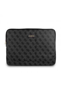 Czarne etui na laptopa Guess eleganckie, z aplikacjami