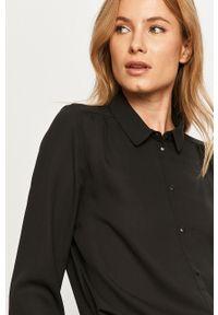 Czarna koszula Vila klasyczna, na co dzień, długa