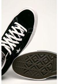 Czarne niskie trampki Converse z cholewką, na sznurówki