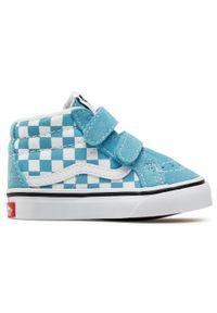 Vans - Sneakersy VANS - Sk8-Mid Reissue V VN0A5DXD30Y1 (Checkerbrd)Dlphnmbltrwht. Kolor: niebieski. Materiał: zamsz, materiał, skóra
