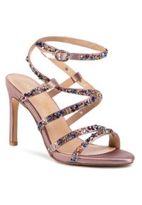 Fioletowe sandały Alma En Pena z aplikacjami, eleganckie