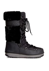 Czarne buty zimowe Moon Boot street, na spacer, na zimę