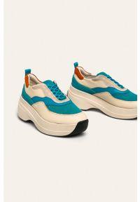 Beżowe buty sportowe vagabond do biegania, na sznurówki
