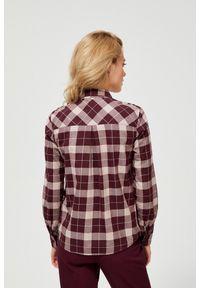 Koszula MOODO długa, z długim rękawem, w kratkę