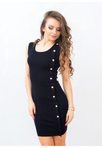Czarna sukienka Fanaberia.com prosta, retro