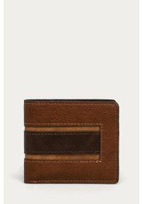 Brązowy portfel Aldo gładki