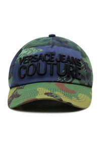 Versace Jeans Couture - Czapka z daszkiem VERSACE JEANS COUTURE - E8YWAK12 80155 MGR. Kolor: zielony. Materiał: materiał, bawełna
