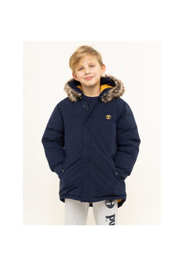 Niebieska kurtka zimowa Timberland