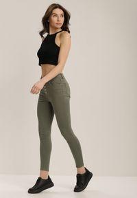 Zielone spodnie skinny Renee