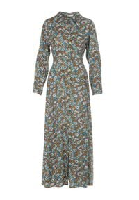 Born2be - Niebieska Sukienka Sereileh. Kolor: niebieski