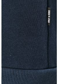 Niebieska bluza rozpinana Only & Sons na co dzień, z kapturem, casualowa #5