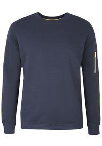 Niebieska bluza TOP SECRET na co dzień, elegancka, na wiosnę