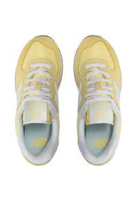 Żółte sneakersy na co dzień, z cholewką, New Balance 574