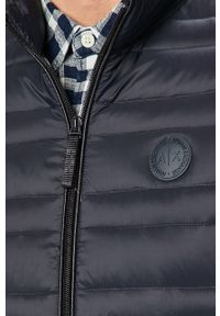 Niebieska kurtka Armani Exchange bez kaptura