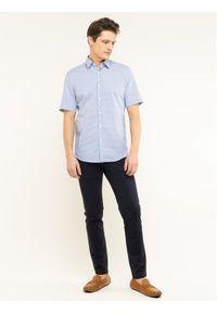 Baldessarini Spodnie materiałowe Jorgen 16838/000/2215 Granatowy Regular Fit. Kolor: niebieski. Materiał: elastan, bawełna, materiał #2