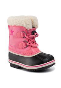 sorel - Śniegowce SOREL - Childrens Yoot Pac Nylon NC1962 Lollipop/Pink Glo 674. Okazja: na spacer. Kolor: różowy. Materiał: skóra ekologiczna, guma, materiał. Szerokość cholewki: normalna