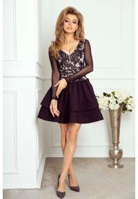 Czarna sukienka Imesia z haftami