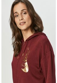 Brązowa bluza rozpinana Nike Sportswear z kapturem, casualowa, na co dzień, z nadrukiem