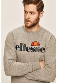 Szara bluza nierozpinana Ellesse na co dzień, bez kaptura, z nadrukiem