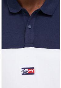Tommy Jeans - Longsleeve bawełniany. Okazja: na co dzień. Kolor: niebieski. Materiał: bawełna. Długość rękawa: długi rękaw. Styl: casual