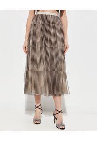 NEEDLE & THREAD - Tiulowa spódnica w paski. Kolor: czarny. Materiał: tiul. Wzór: paski