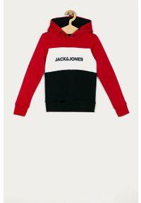 Czerwona bluza Jack & Jones z nadrukiem, casualowa