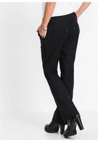 Czarne spodnie bonprix na spotkanie biznesowe, w prążki, biznesowe