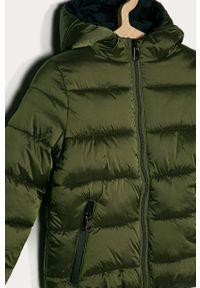 Zielona kurtka OVS z kapturem, na co dzień, casualowa