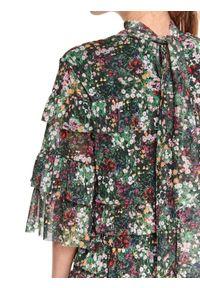 Biała sukienka TOP SECRET mini, w kwiaty
