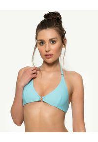 MISSION SWIM - Top od bikini Bella. Kolor: niebieski. Materiał: tkanina, materiał. Wzór: gładki