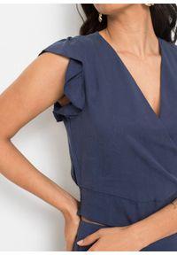 Bluzka TENCEL™ Lyocell bonprix niebieski denim. Kolor: niebieski. Materiał: lyocell, denim