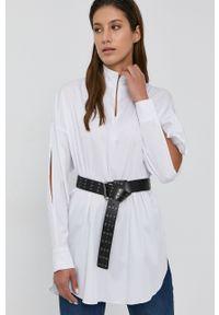 Nissa - NISSA - Bluzka. Kolor: biały. Materiał: tkanina. Długość rękawa: długi rękaw. Długość: krótkie. Wzór: gładki