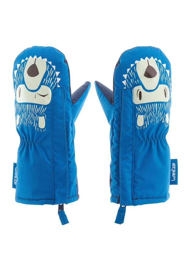 LUGIK - Rękawice narciarskie / na sanki Warm dla maluchów. Kolor: niebieski. Materiał: bawełna, materiał. Sport: narciarstwo