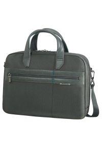Szara torba na laptopa Samsonite z aplikacjami, elegancka