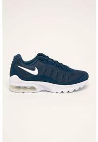 Niebieskie buty sportowe Nike Kids z okrągłym noskiem, na sznurówki