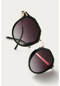 Czarne okulary przeciwsłoneczne Answear Lab okrągłe
