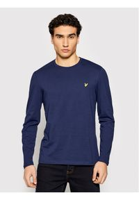 Niebieska koszulka z długim rękawem z długim rękawem