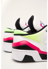Białe sneakersy Converse z cholewką, na średnim obcasie